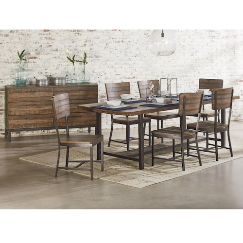 Magnolia Home by Joanna Gaines Industrial Industrial Dining Room Group with 84