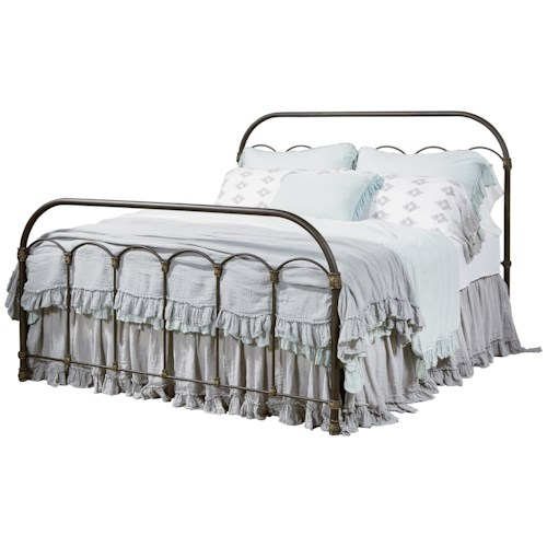 Magnolia Home by Joanna Gaines Primitive King Colonnade Metal Bed