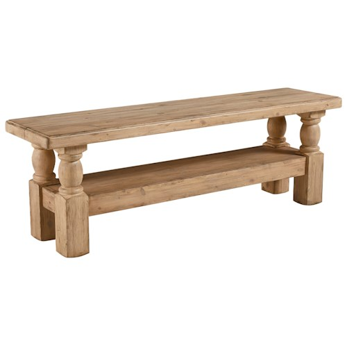 Magnolia Home by Joanna Gaines Accent Elements Danish Hall Bench with Wheat Finish