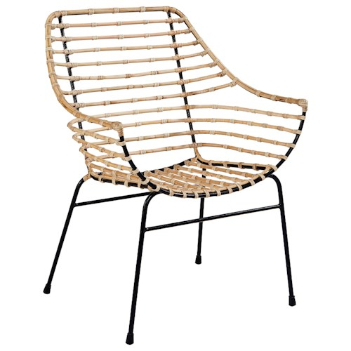 Magnolia Home by Joanna Gaines Boho Entwine Rattan Arm Chair