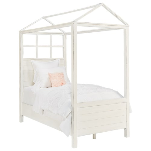 Magnolia Home by Joanna Gaines Boho Playhouse Twin Canopy Bed