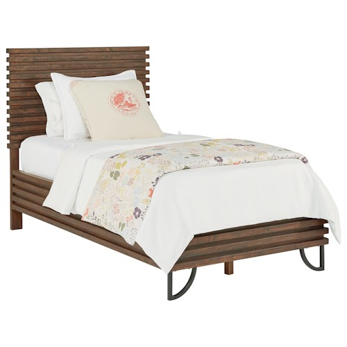 Magnolia Home by Joanna Gaines Boho Twin Stacked Slat Youth Bed