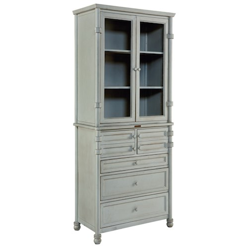 Magnolia Home by Joanna Gaines Industrial Metal Dispensary Cabinet