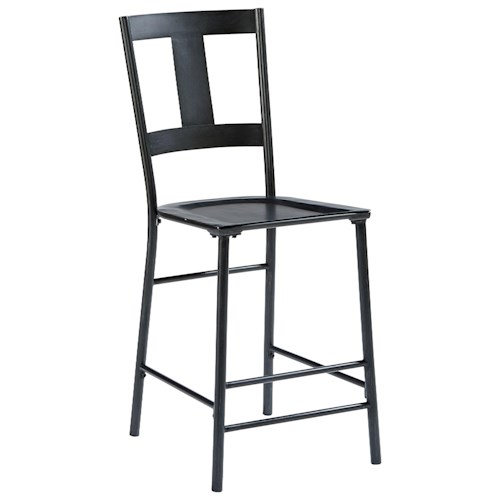 Magnolia Home by Joanna Gaines Industrial Metal And Wood Barstool with Carbon Finish