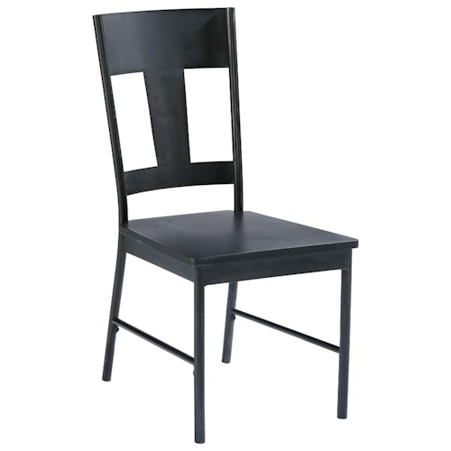 Magnolia Home by Joanna Gaines Industrial Metal Side Chair with Carbon Finish