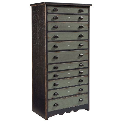 Magnolia Home by Joanna Gaines Primitive Primitive Library Chest with Two-Tone Finish