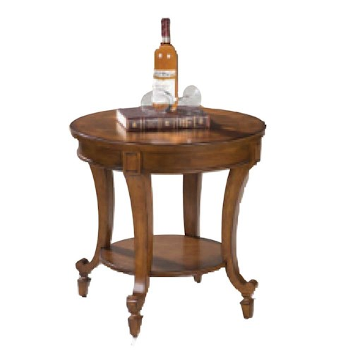 Belfort Select Aidan Round End Table with Shelf