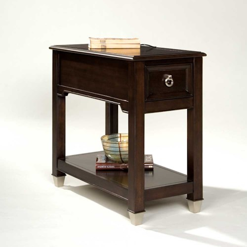Belfort Select Darien Rectangular Accent Table with One Drawer and Shelf