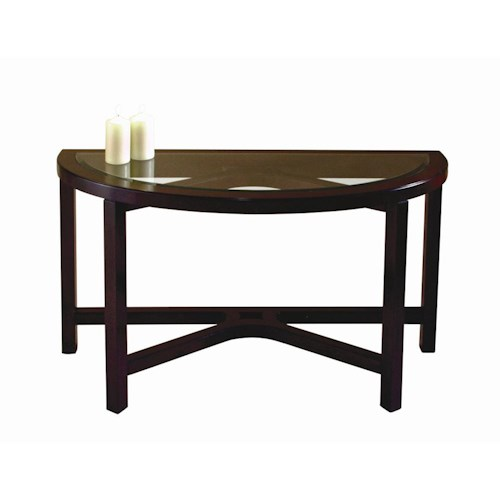 Magnussen Home Juniper Half Moon Sofa Table