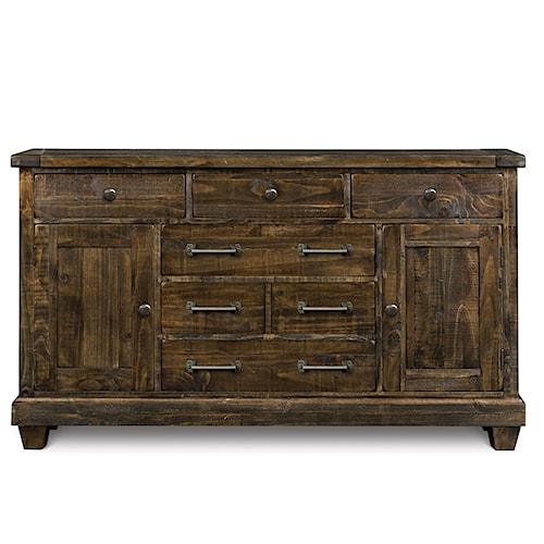 Magnussen Home  Brenley Solid Pine 6-Drawer Dresser