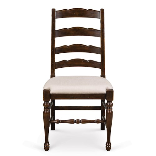 Magnussen Home  Loren Ladderback Dining Chair with Upholstered Seat