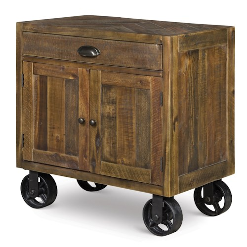 Magnussen Home  River Ridge Night Stand w/ Casters