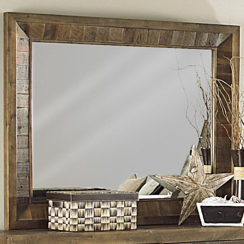 Magnussen Home  River Ridge Solid Wood Landscape Mirror
