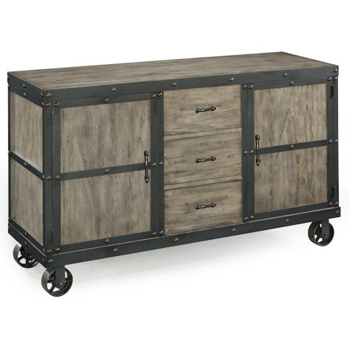 Magnussen Home  Walton Dining Server with Casters