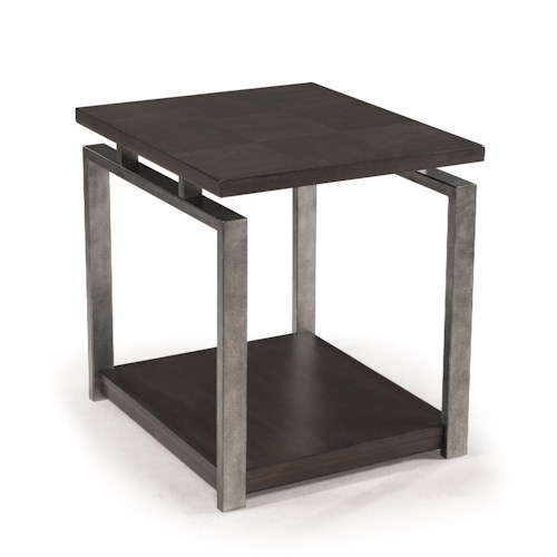 Morris Home Furnishings Flatstone Contemporary Rectangular End Table
