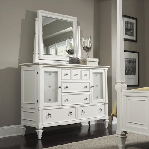 Magnussen Home Ashby Dresser and Tall Tilt Mirror