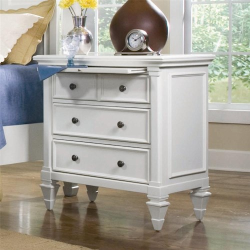 Magnussen Home Ashby Night Stand with Pull-out Shelf