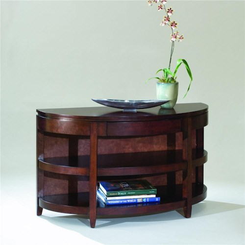 Magnussen Home Brunswick Demilune Sofa Table with Drawer