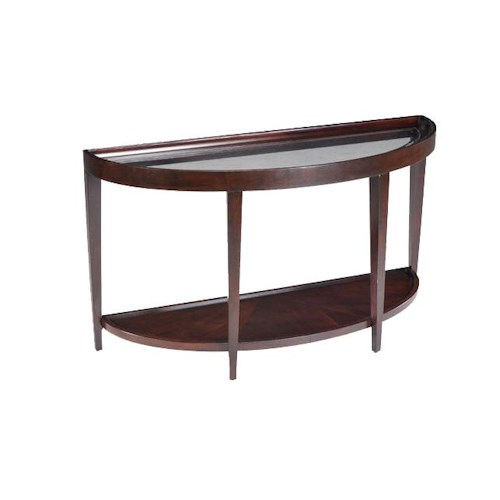 Magnussen Home Carson  Glass Top Demi Sofa Table