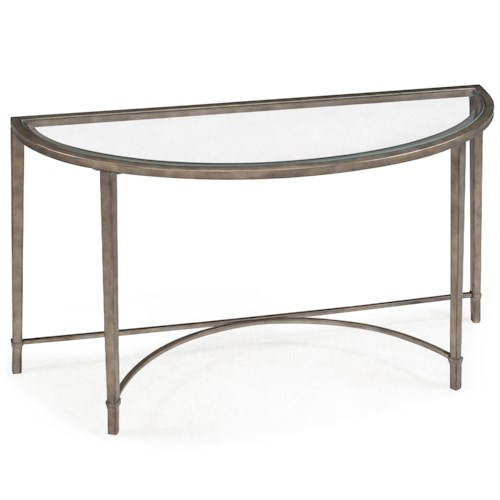 Belfort Select Copia Metal and Glass Demilune Sofa Table