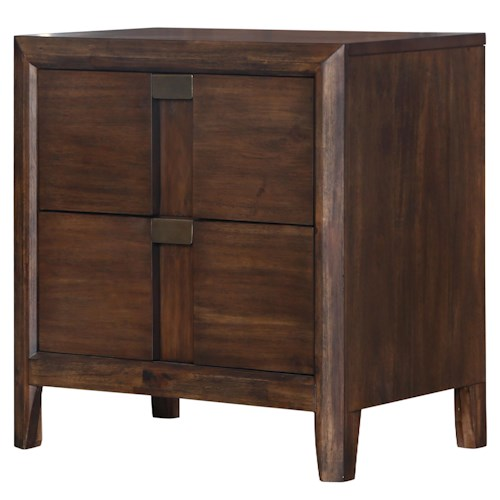 Belfort Select Echo Two Drawer Night Stand with Touch Lighting