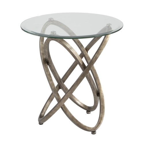 Magnussen Home Escala Modern Metal Ring Base End Table