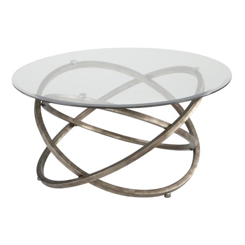 Magnussen Home Escala Modern Metal Ring Base Cocktail Table