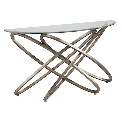 Magnussen Home Escala Modern Metal Ring Base Sofa Table