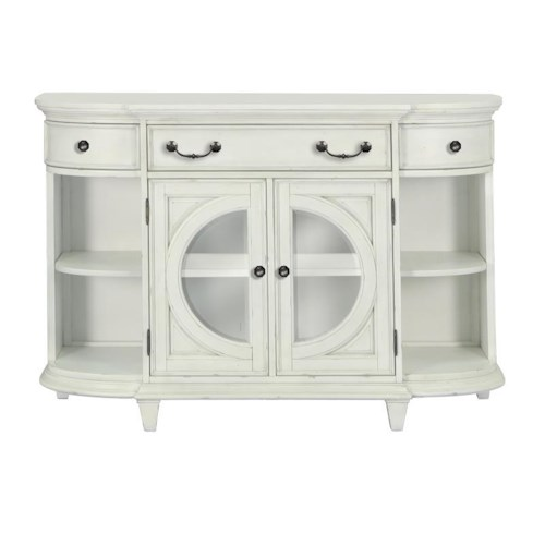 Belfort Select Magnolia Park Cottage Coastal Buffet with Silverware Storage