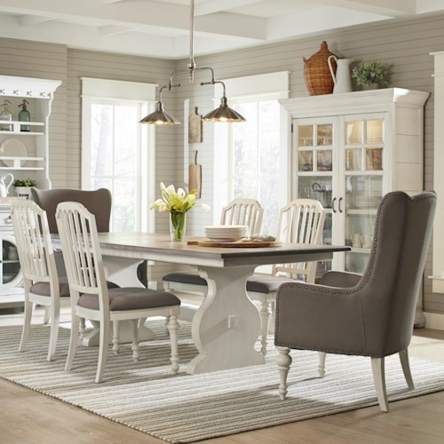 Belfort Select Magnolia Park Seven Piece Dining Set with Rectangular Table
