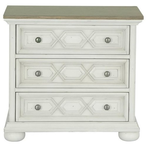Magnussen Home Belinda Accent Night Stand with 3 Drawers
