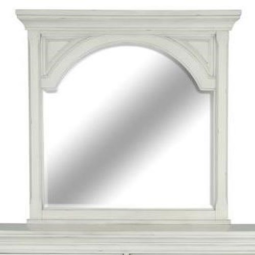 Magnussen Home Belinda Landscape Mirror with Wood Frame