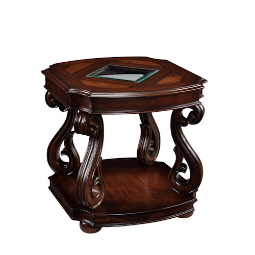 Magnussen Home Harcourt  Rectangular End Table