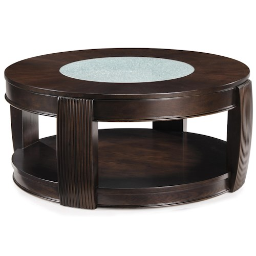 Magnussen Home Ino Round Coffee Table w/ Glass Inset