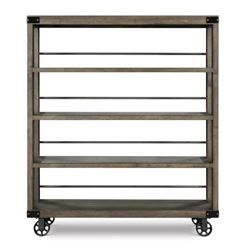 Magnussen Home Karlin Dining Cart with Open Shelving and Casters