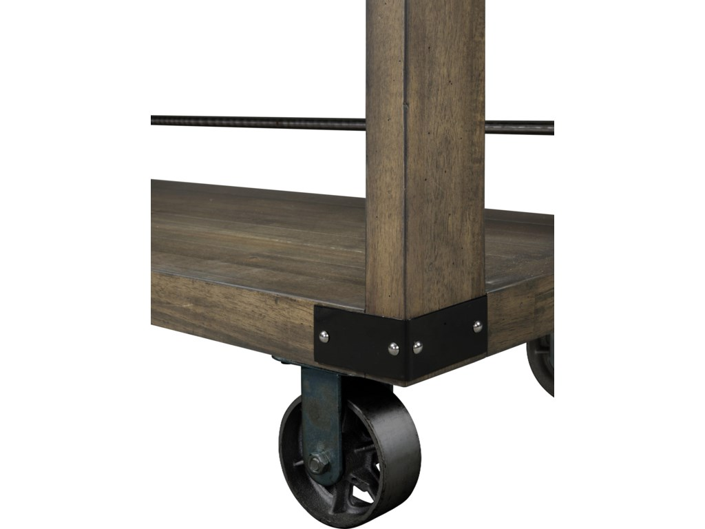 Piece Sits on Casters