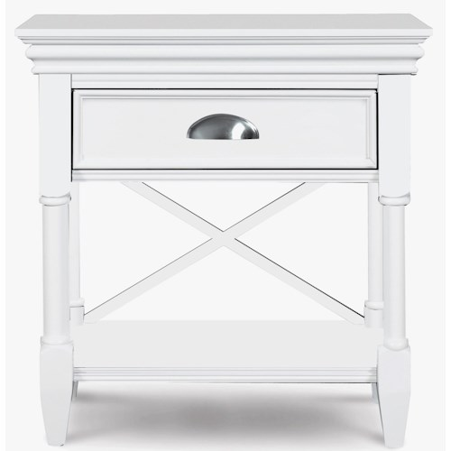 Magnussen Home Kasey  1-Drawer Nightstand with Open Fretwork
