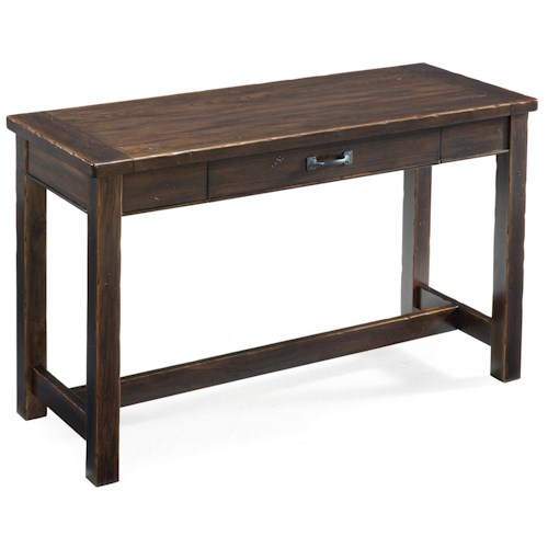 Magnussen Home Kinderton Rustic Rectangular Sofa Table with Drawer