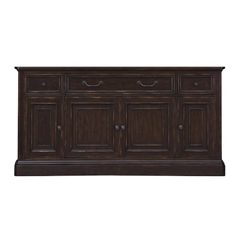 Belfort Select Lafayette Traditional TV Console with Interchangeable Wood or Glass Doors