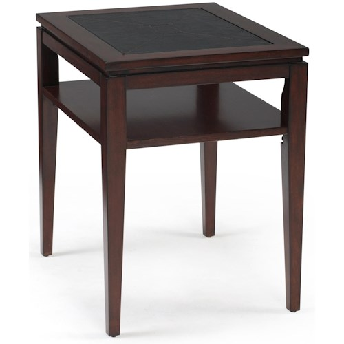 Magnussen Home Micah Rectangular End Table w/ Shelf