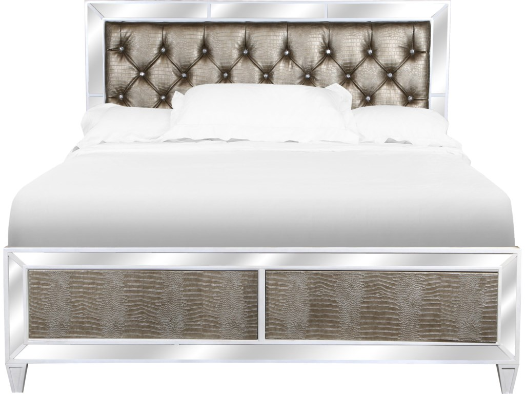Old Hollywood Bedroom Furniture Magnussen Home Monroe Queen Old Hollywood Headboard With Button