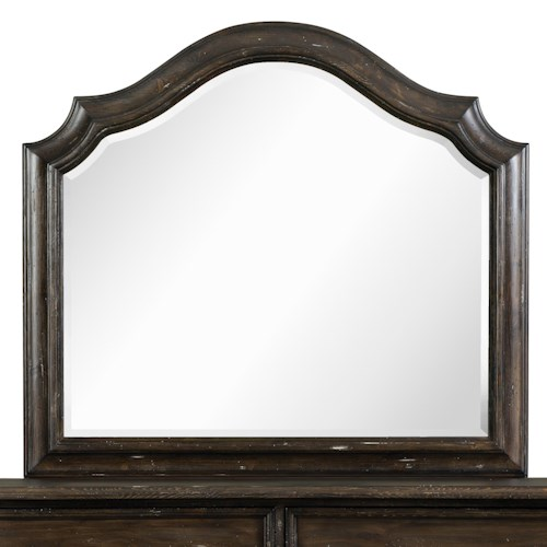 Magnussen Home Muirfield Bedroom Traditional Camelback Mirror with Scalloped Edges