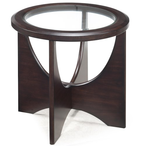 Belfort Select Okani Glass Top Oval End Table