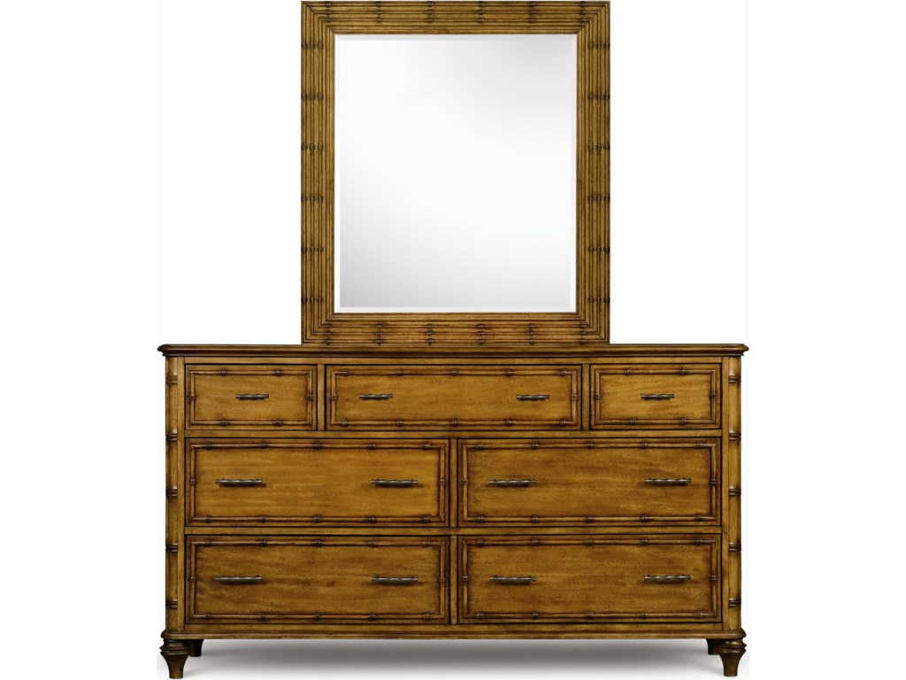 Drawer Dresser and Landscape Mirror Combo