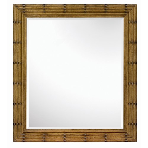 Magnussen Home Palm Bay Look of Bamboo Landscape Mirror