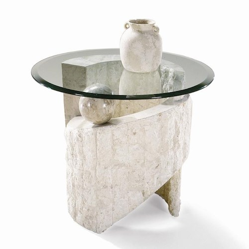 Magnussen Home Ponte Vedra Contemporary Round Glass End Table