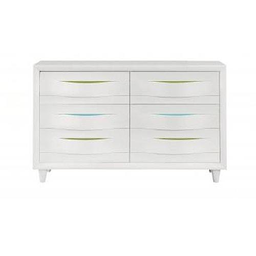 Morris Home Furnishings Rainbow City Dresser