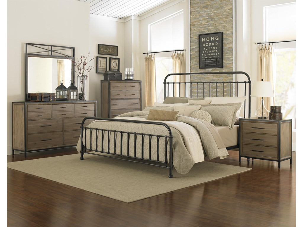 Shown with Drawer Dresser, Landscape Mirror, Drawer Chest and Drawer Nightstand