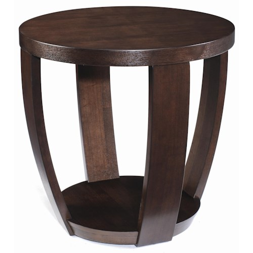 Magnussen Home Sotto Round End Table with 1 Shelf