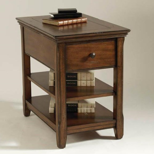 Magnussen Home Tanner Chairside Table with Two Shelves
